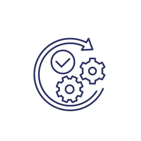 positive impact or influence line icon Vektorové ilustrace