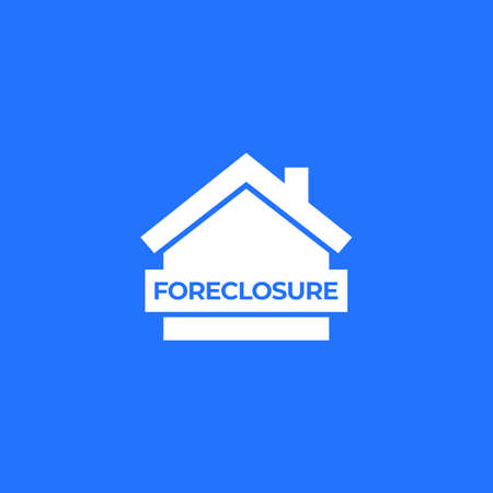 foreclosure icon with house, vector