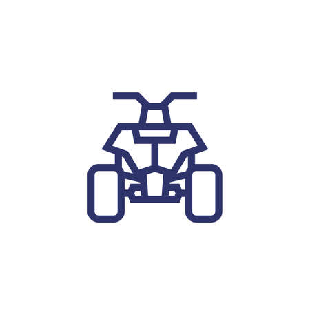 quad bike, all terrain vehicle ATV line icon 일러스트