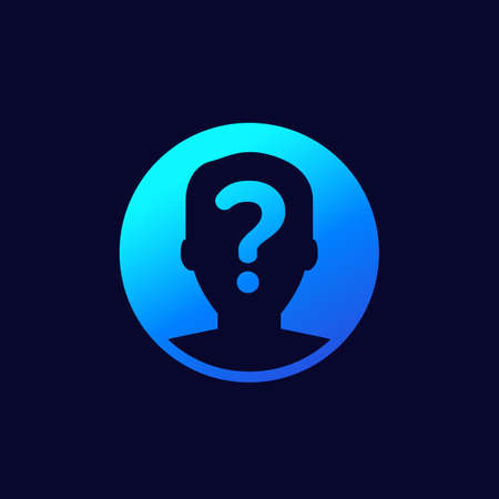 unknown person, user icon for web