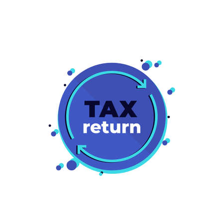 tax return, vector icon on white