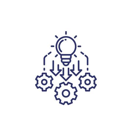 Implementation, implement icon, line vector Vektoros illusztráció