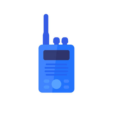 radio set, portable transceiver flat icon