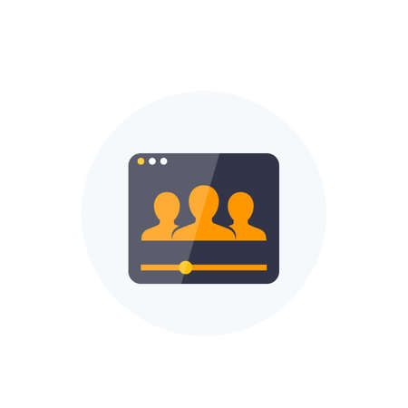 viewers, audience icon for web, vector