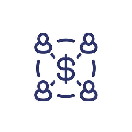 Employee cost, salary line icon