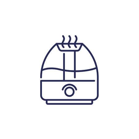 air humidifier icon, line vector Иллюстрация