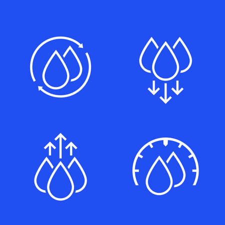 humidity and water icons for web