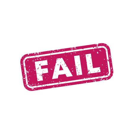 Fail stamp on white, vector 向量圖像