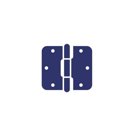 door hinge icon on white, vector  イラスト・ベクター素材