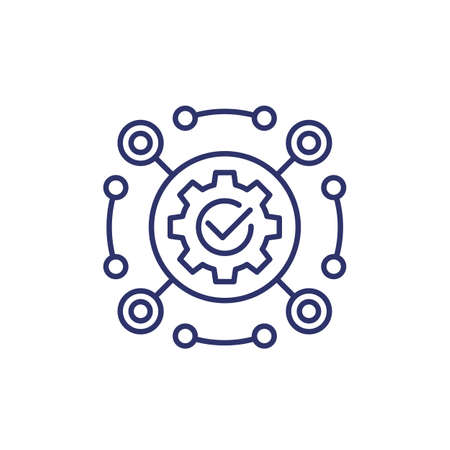 software, framework and automation line icon