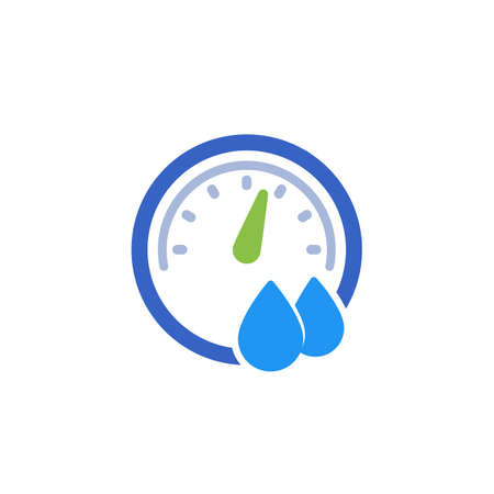 Hygrometer icon on white, vector