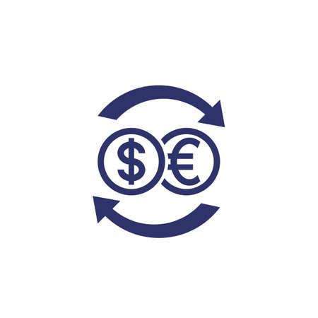dollar to euro exchange icon