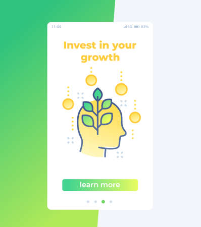 invest in personal growth mobile ui design