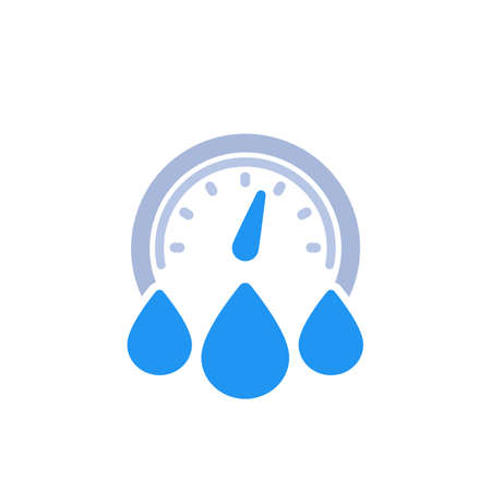 water consumption icon on white
