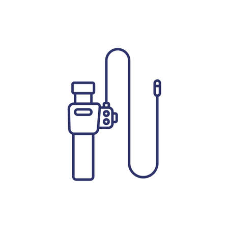 endoscope, colonoscopy tool line icon