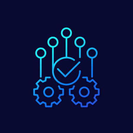 automation or optimization icon, linear vector