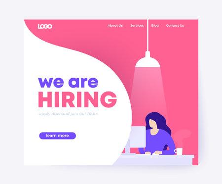We are hiring landing page design