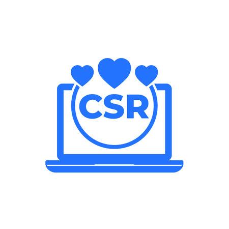 CSR, corporate social responsibility vector icon