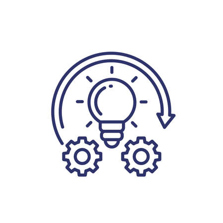 Implementation or idea execution line icon