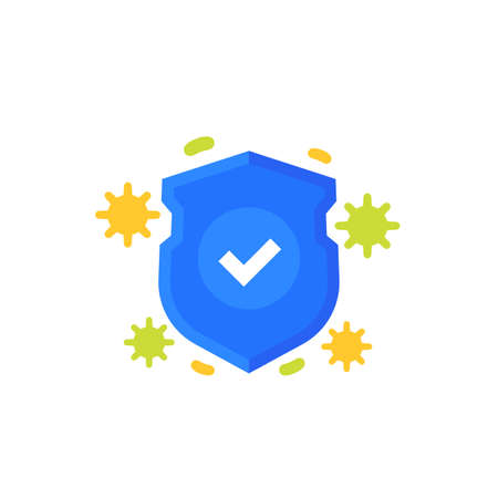 antiviral protection icon on white