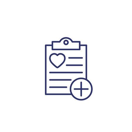 add to wish list icon, line 矢量图像