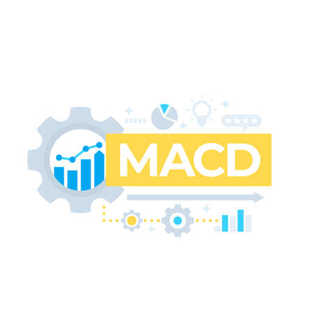MACD indicator, Moving Average Convergence Divergence vector design