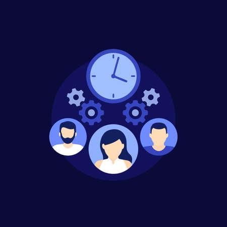teamwork and deadline icon, vector Vektorgrafik