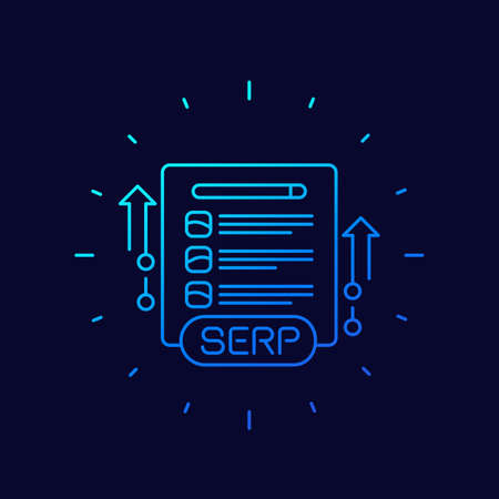 SERP and seo optimization line vector icon