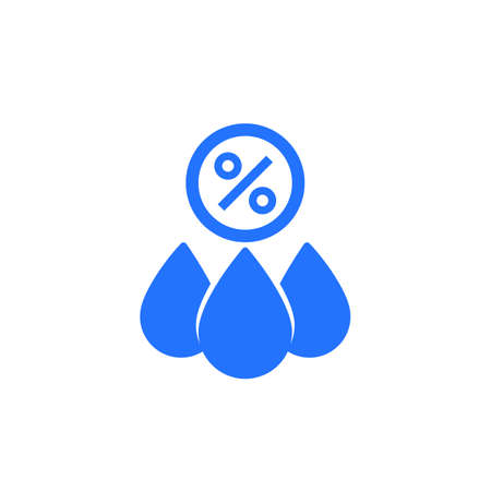 Humidity icon, drops and percent