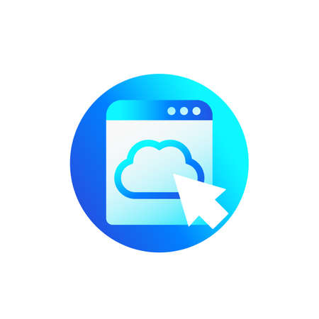 Cloud access icon for web Illustration