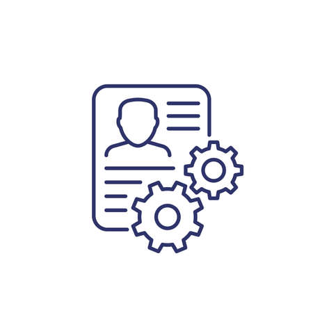 account settings line icon on white Illustration
