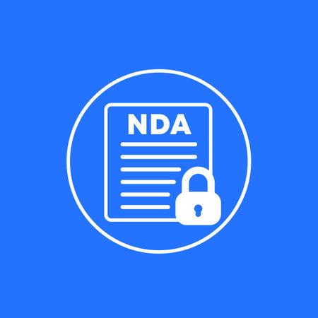 NDA, Non disclosure agreement form icon for web