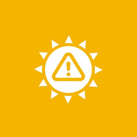 UV radiation warning icon, vector Illustration