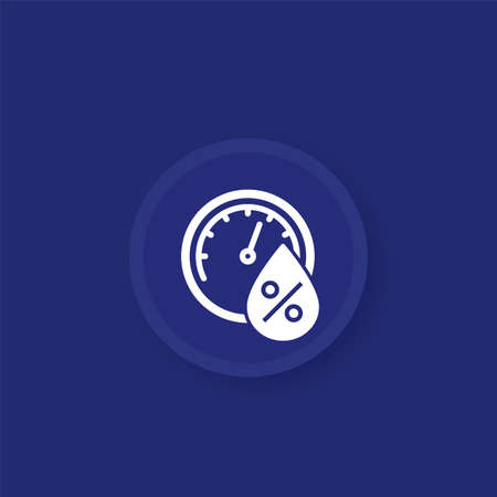 Hygrometer icon for apps, vector