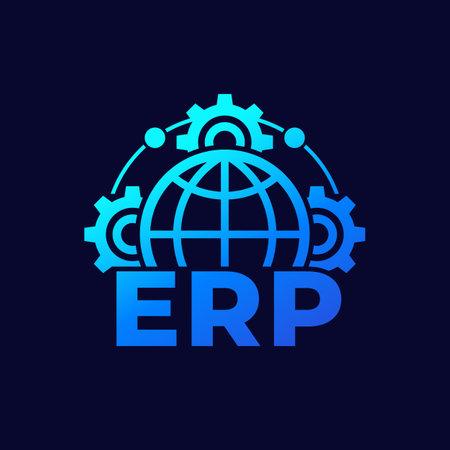 ERP vector icon for web