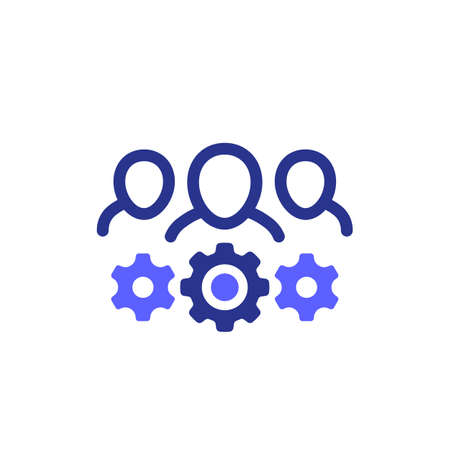 Business committee icon on white