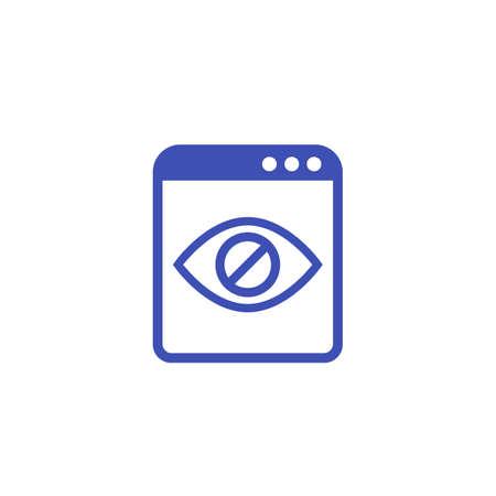 hidden content icon on white