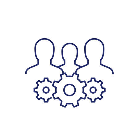 business committee line icon on white
