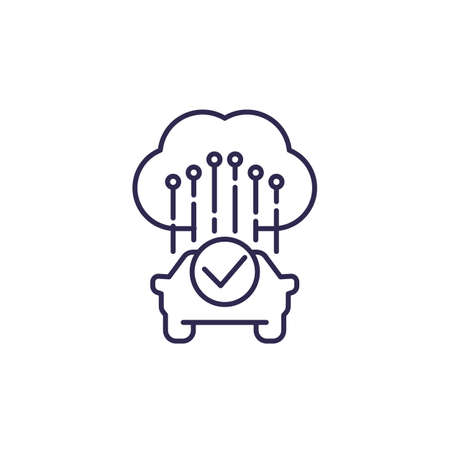 cloud solutions for transport line icon