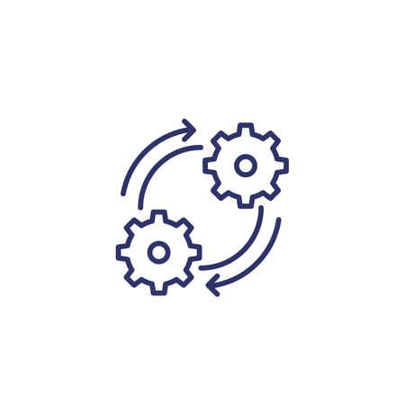 Illustration Operation, effective process line icon Vektoros illusztráció