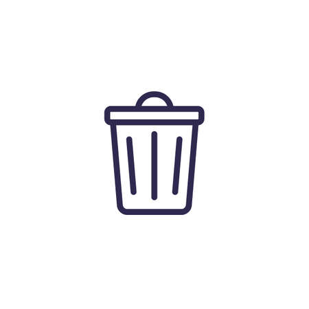 Trash bin icon, line vector Иллюстрация
