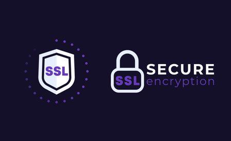 SSL secure icons on dark