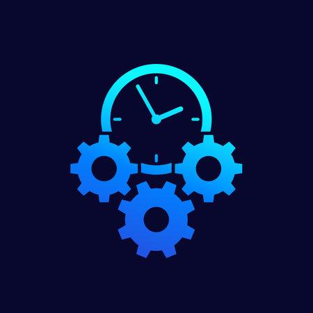 efficiency, efficient process icon, vector Illustration