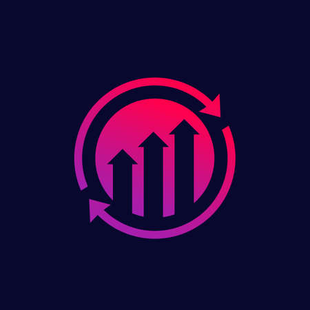 continuous growth and improvement vector icon