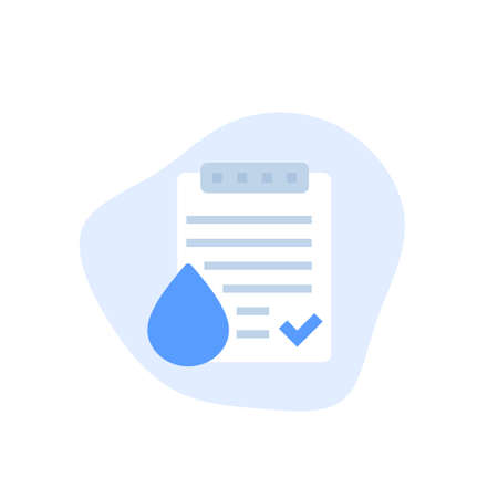 Water quality test icon, vector