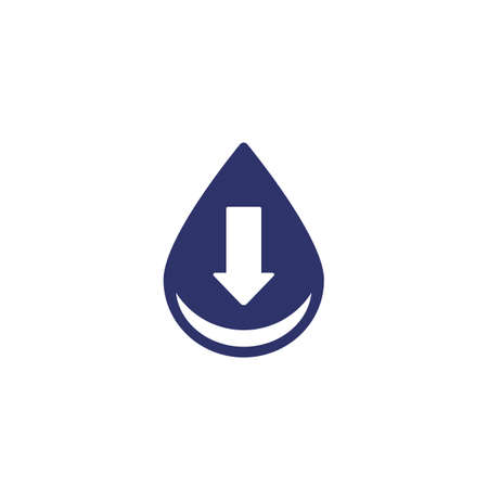 low water level icon, vector sign