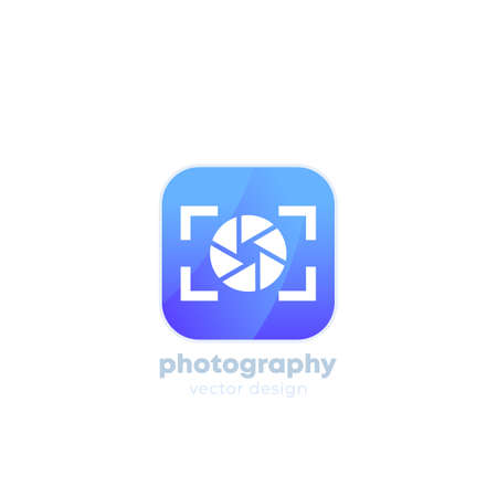 photography logo with camera icon