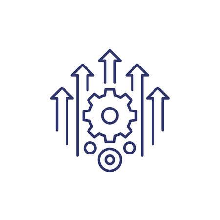 efficiency, efficient process line icon