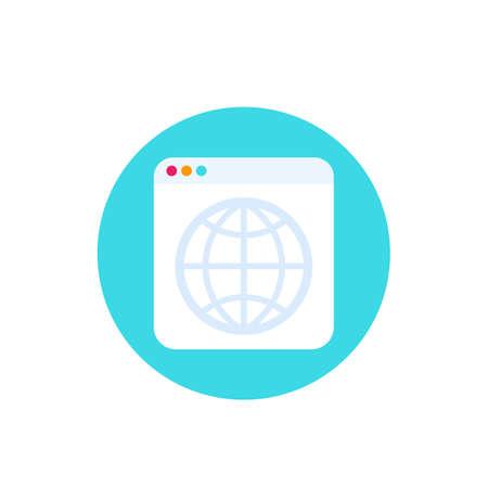 web page icon, website vector