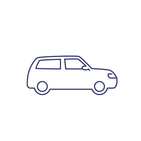 universal car, automobile line icon Illustration